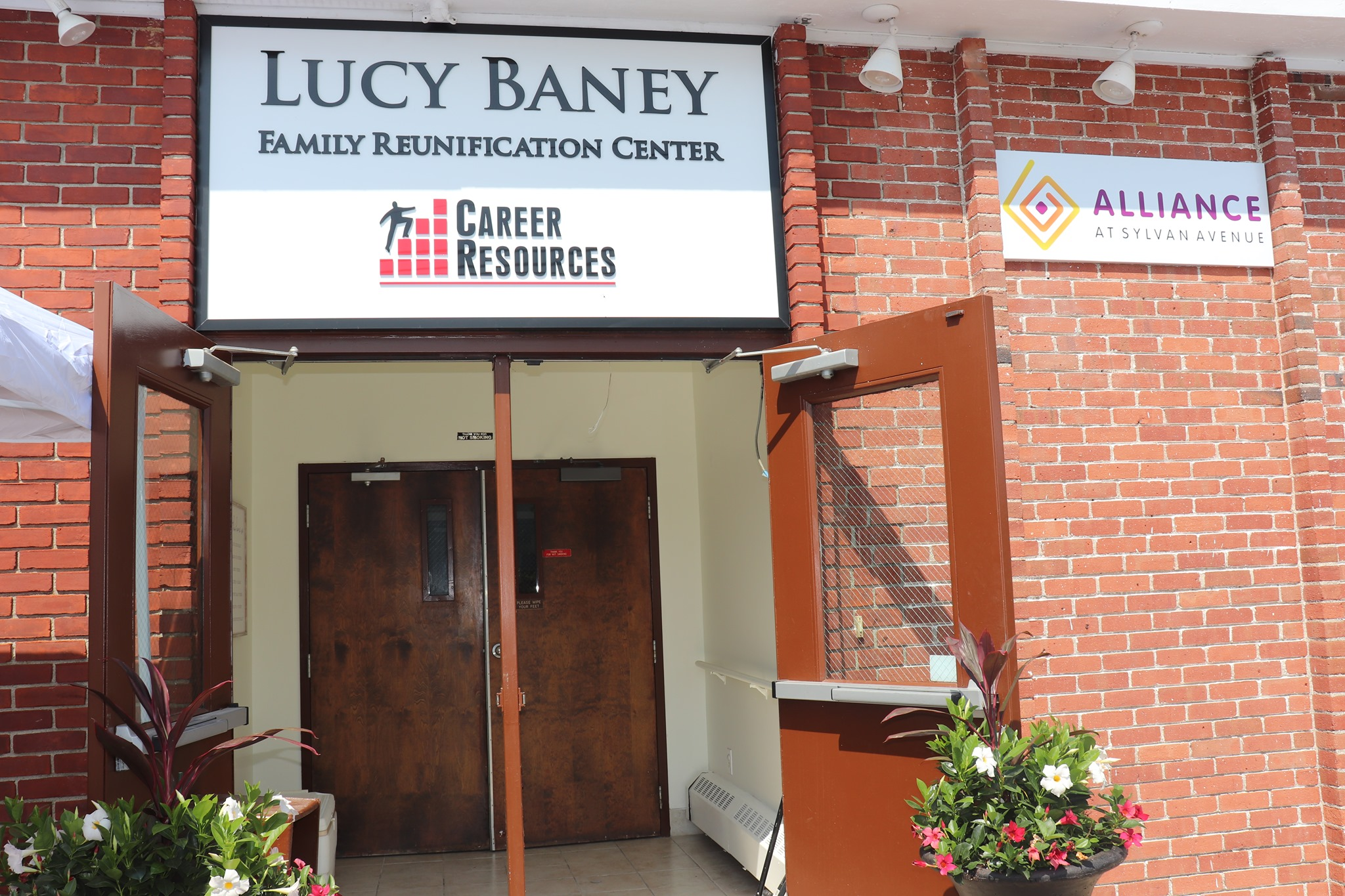 exterior doors of lucy baney family reunification center