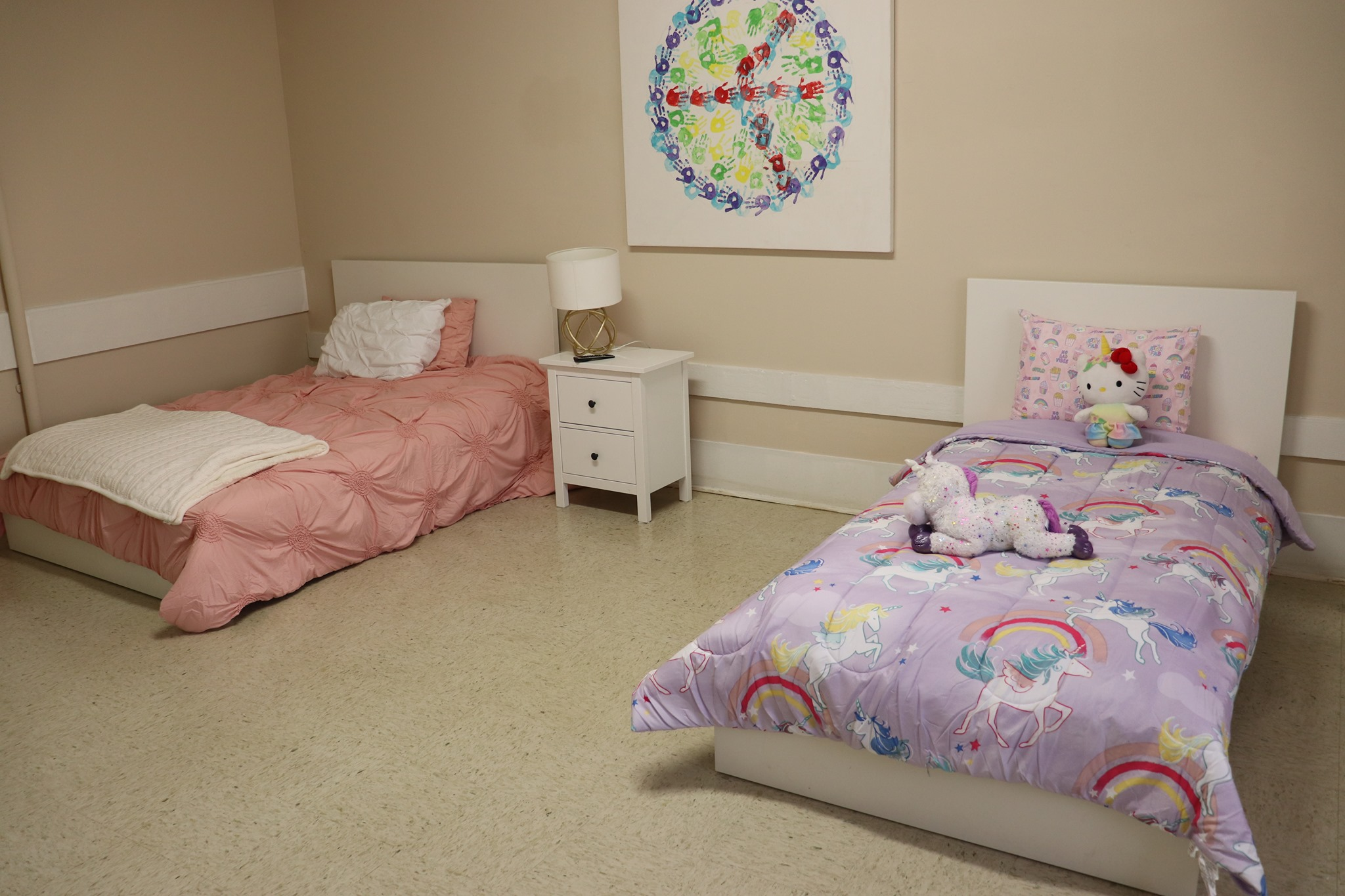 Two childrens beds